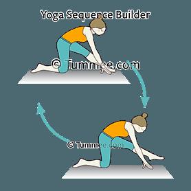 half split pose variation front foot up flow yoga ardha