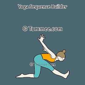 half splits pose airplane arms yoga ardha hanumanasana
