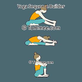 head on knee pose janu sirsasana variations  24