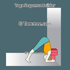 headstand pose prep head floor variation blocks wall yoga