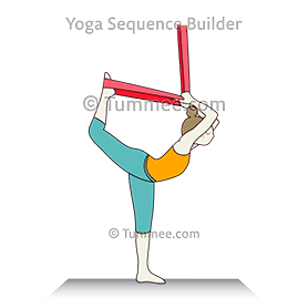 quad stretch pose with chair yoga  yoga sequences