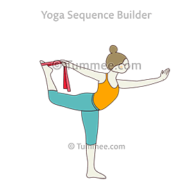 King Dancer Pose Strap Yoga Natarajasana Strap Yoga Sequences Benefits Variations And Sanskrit Pronunciation Tummee Com