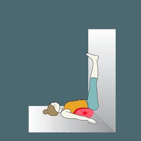 Legs Up The Wall Pose Bolster (Viparita Karani Bolster)