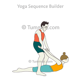 locust pose legs on floor partner yoga salabhasana legs