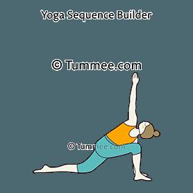 Low Lunge Twist Pose Knee On The Floor Yoga Parivrtta Anjaneyasana Knee On The Floor Yoga Sequences Benefits Variations And Sanskrit Pronunciation Tummee Com
