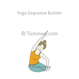mermaid side stretch pose yoga  yoga sequences benefits