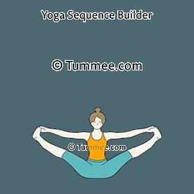 merudandasana yoga wide legged bound boat pose  yoga