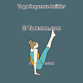 moon bird pose yoga chakorasana  yoga sequences