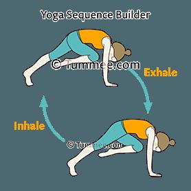 mountain climber pose flow yoga phalakasana variation