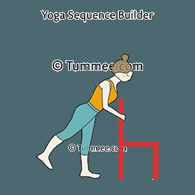 standing one leg raised pose wall hip hike exercise eka