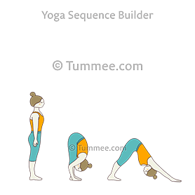 mountain pose downward facing dog pose flow yoga tadasana