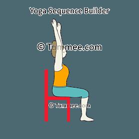 mountain pose raised hands chair yoga tadasana urdhva