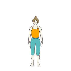 Mountain Pose Variation Feet Hip Wide (Tadasana Variation Feet Hip Wide)