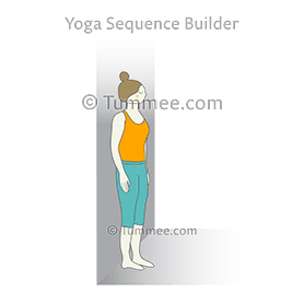 mountain pose wall yoga tadasana wall  yoga sequences