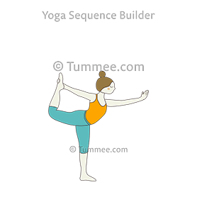 dancer pose natarajasana preparatoryposes  tummee