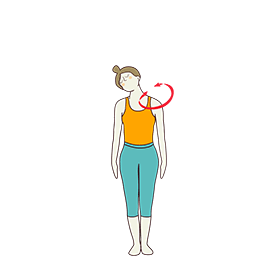 Neck Rotation And Massage