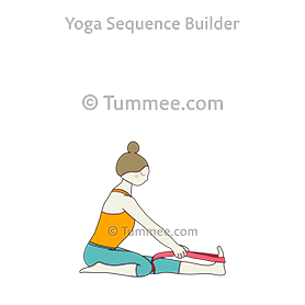 one leg folded forward bend with strap yoga trianga