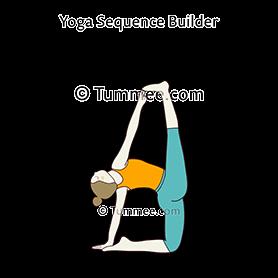 one leg raised camel pose yoga eka pada urdhva ustrasana