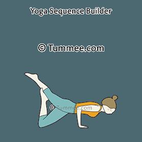 one legged four limbed staff pose variation yoga eka pada