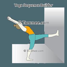 one legged standing backbend wall yoga eka pada