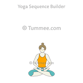 lotus pose yoga padmasana  yoga sequences benefits