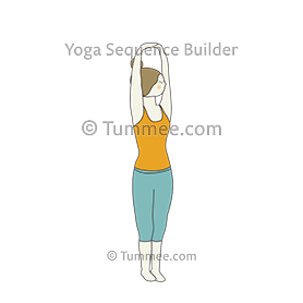 Palm Tree Pose Twist Yoga (Parsva Bhangi) | Yoga Sequences ...
