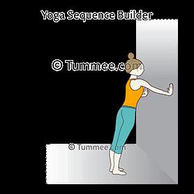 Plank Pose Wall Yoga Phalakasana Wall Yoga Sequences Benefits Variations And Sanskrit Pronunciation Tummee Com