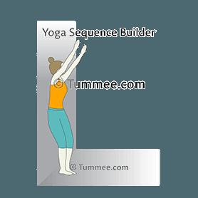 prenatal mountain pose arms raised wall yoga prenatal