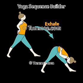 pyramid pose flow yoga parsvottanasana vinyasa  yoga