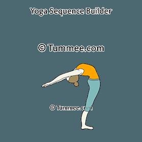 standing backbend yoga anuvittasana  yoga sequences