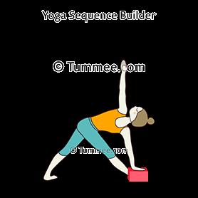 revolved triangle pose block yoga parivrtta trikonasana