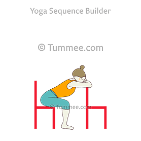 seated forward fold pose two chairs yoga  yoga sequences