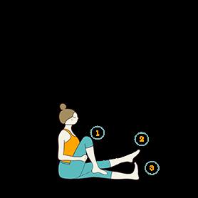 Seated Knee Bending