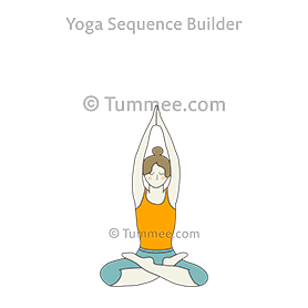 Seated Mountain Pose Yoga Parvatasana Yoga Sequences Benefits Variations And Sanskrit Pronunciation Tummee Com