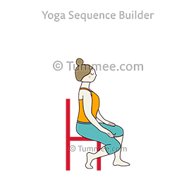 Seated Plantar Fascia Stretch Chair Yoga Yoga Sequences Benefits Variations And Sanskrit Pronunciation Tummee Com