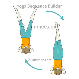 shoulderstand pose scissors flow yoga salamba