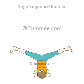 side embryo pose in shoulder stand yoga parsva pindasana
