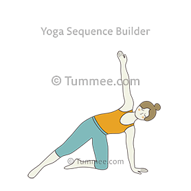 side plank pose variation one knee on the floor yoga