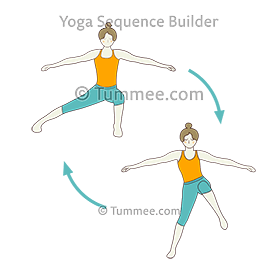 side lunge pose jumping jacks flow yoga  yoga sequences