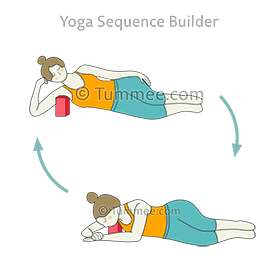 side lying pose armpit block twist flow yoga parsva