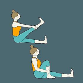 Staff Pose Knee Stretches (Dandasana Knee Stretches)