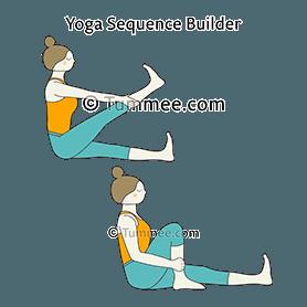 staff pose knee stretches yoga dandasana knee stretches