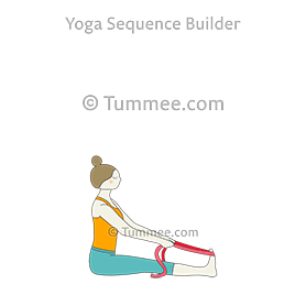staff pose strap yoga dandasana strap  yoga sequences
