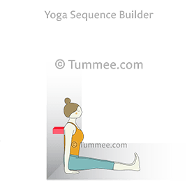 staff pose wall block yoga dandasana wall block  yoga