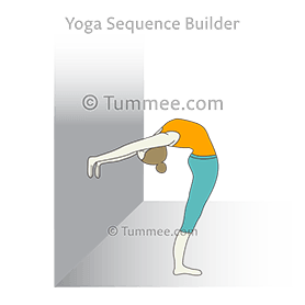 Standing Backbend Hands On Wall Yoga Standing Backbend Pose Hands On Wall Yoga Sequences Benefits Variations And Sanskrit Pronunciation Tummee Com