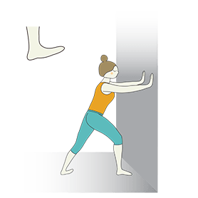 Standing Calf Stretch Pose Wall