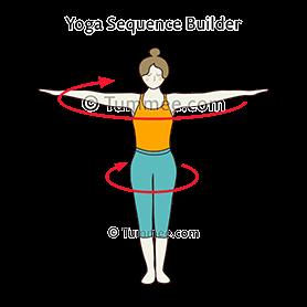 standing circling pose yoga tadasana mandala  yoga