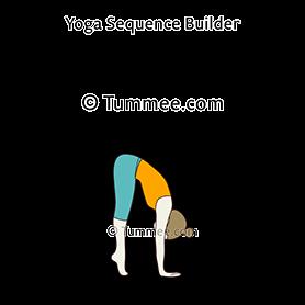 ardha baddha padmottanasana yoga half bound lotus