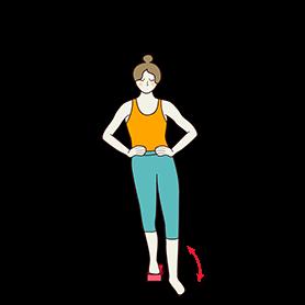 Standing Hip Flexion Extension Pose Block