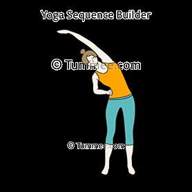 standing side bend pose variation yoga  yoga sequences
